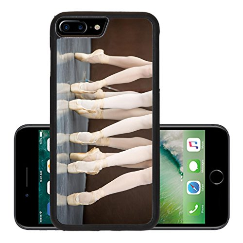 [Luxlady Premium Apple iPhone 7 Plus Aluminum Backplate Bumper Snap Case IMAGE 37161041 Five ballet dancers in dance class near the barre Legs only Soft] (Performance Art Costumes)
