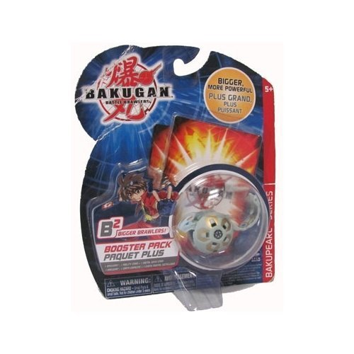 Bakugan Battle Brawlers - B2 Bakupearl Series Haos - Grey - Rattleoid Booster Pack by Spinmaster (Bigger Brawlers Battle Pack)