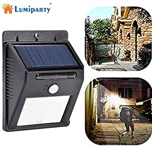 Zehui Wall Light Solar Light 8 LED Outdoor Solar Powerd Wireless Waterproof Security Motion Sensor Light 1pcs