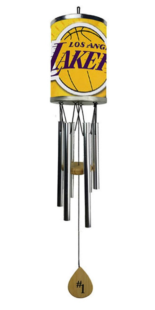 a Plate Rolled in on The Chime Body Los Angeles L Rico Lakers Wind Chime