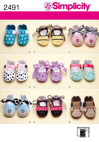 SHOE SEWING PATTERN ~ 9 DIFFERENT DESIGNS (Baby Bootie Pattern)