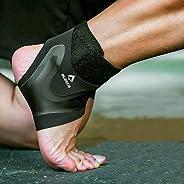 Tornozeleira 4D Ajustável Alasca para prevenção e recuperação de lesões e dores. Ideal para corrida, musculaçã