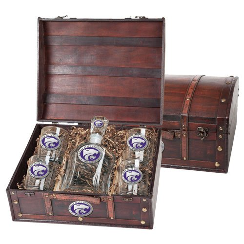 Kansas State Wildcats Decanter and Glasses Gift Set by Heritage Pewter