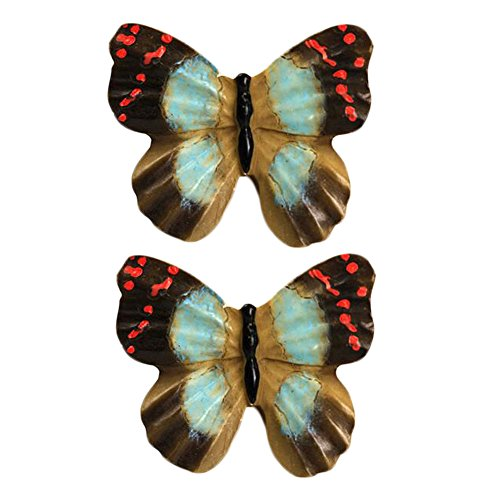 1 Pair Beautiful Butterfly Cabinet Knobs Drawer Pull Hand...