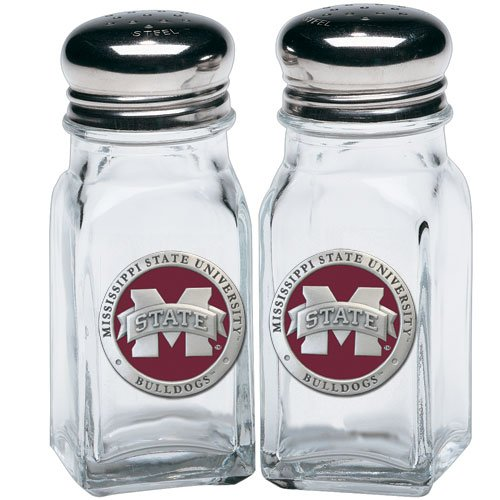1pc, Pewter Mississippi State University Salt & Pepper Shakers