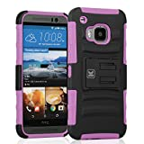 HTC One M9 Case - KAYSCASE Heavy-Duty Belt Clip Dual-layer ArmorHolster Hybrid Cover Case for the HTC One M9 Smart Phone 2015 Version (Pink)