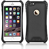 iPhone 6s Plus Case, iPhone 6 Plus Case,Kuteck Carbon Fibre Series - [Shockproof][Drop Protection] Hybrid Hard Case Cover For iPhone 6 6S Plus (Black)
