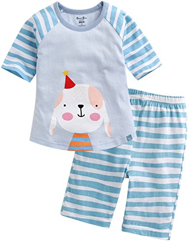 Vaenait Baby Boys 3/4 Sleeve Raglan Top and Shorts 2pcs Set Birthday Doggy M