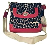 Coach 49441 Park Ocelot Leopard Print Swingpack Cross-body Handbag