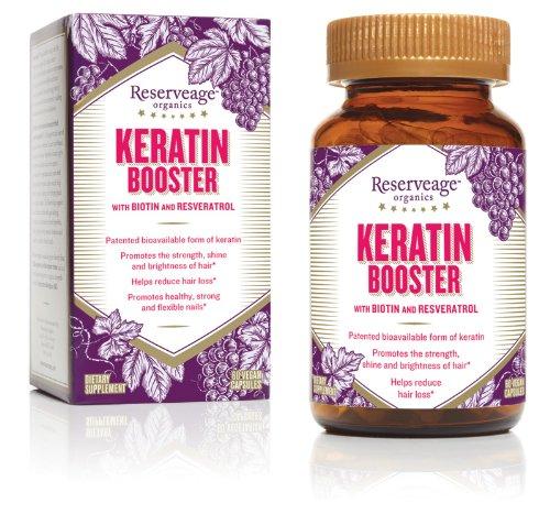 Organics Reserveage kératine appoint avec de la biotine et le resvératrol, 60 capsules végétariennes