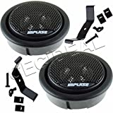 NEW IMPULSE ACOUSTIK 2'' 240W FLUSH-MOUNT CAR DOME TWEETERS BUILT IN CROSSOVER
