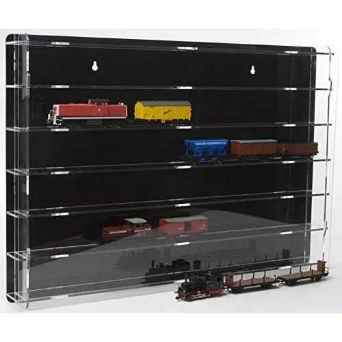 SORA Modèle chemin de fer échelle 00 / H0 Vitrine de protection avec panneau arrière noir