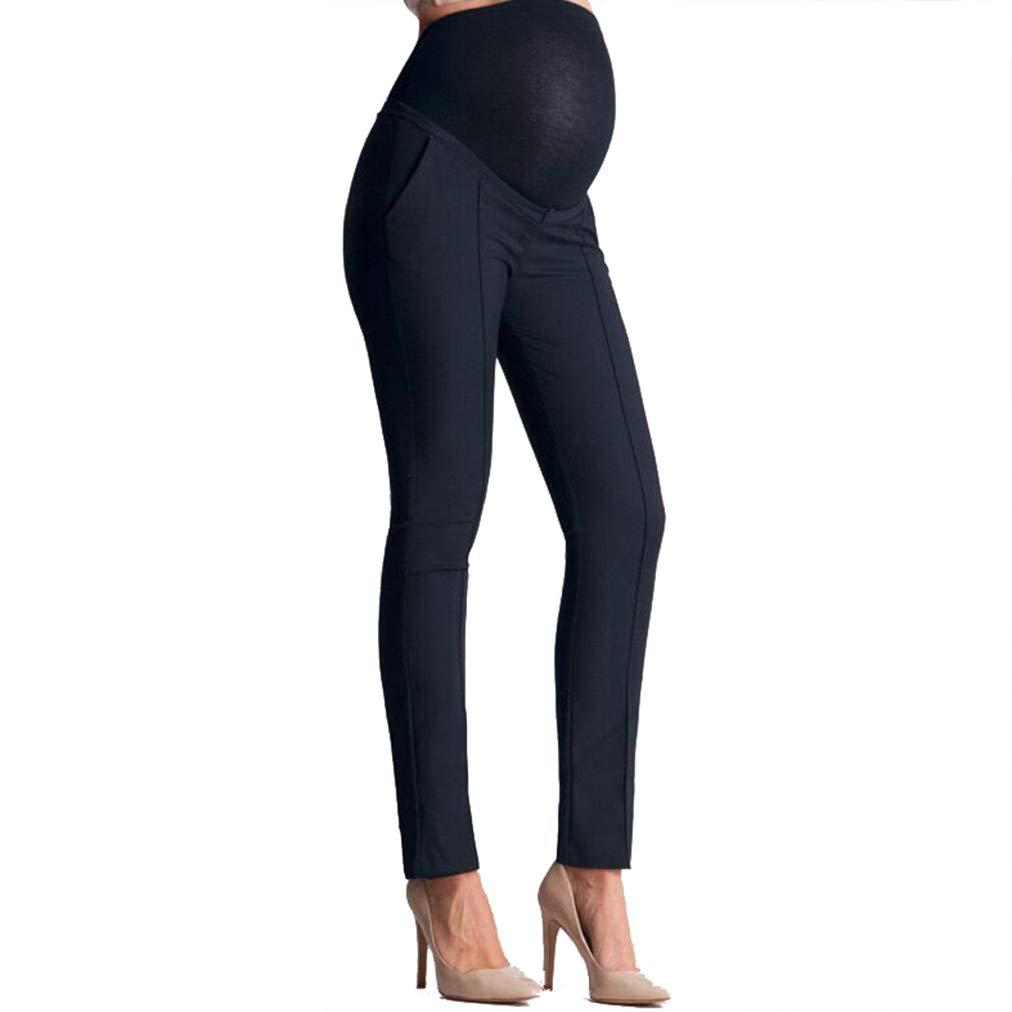 Pantalones Trabajo Leggins Embarazada Invierno Premam/á Pantalones Maternidad Pantalones Leggings Embarazo el/ásticos