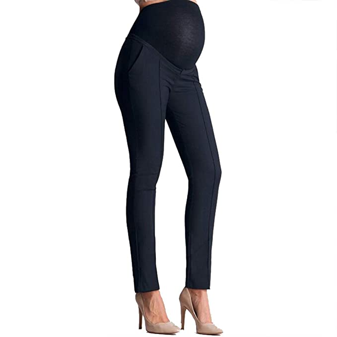 7c5f4eb85 Pantalones Trabajo Leggins Embarazada Invierno Premamá Pantalones  Maternidad Pantalones Leggings Embarazo elásticos  Amazon.es  Ropa y  accesorios