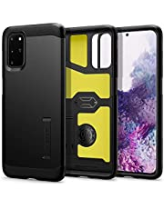 SPIGEN [Tough Armor] Galaxy S20+ PLUS Case Cover with Heavy Duty, Military-Grade Protection and Integrated Kickstand Designed for Samsung S20 PLUS (2020) - Black