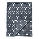 "Kids N' Such Minky Baby Blanket 30"" x 40"" - Deer - Soft Swaddle Blanket for Newborns and Toddlers - Best for Boy or Girl Crib Bedding, Nursery, and Security - Plush Double Layer Fleece Fabric: more info"