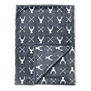 Kids N' Such Minky Baby Blanket 30  x 40  - Deer - Soft Swaddle Blanket for Newborns and Toddlers - Best for Boy Or Girl Crib Bedding, Nursery, and Security - Plush Double Layer Fleece Fabric