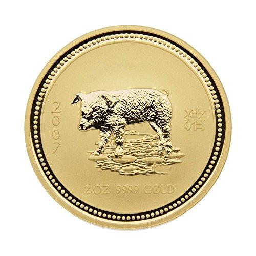 2007 Australia 2 oz .9999 Gold Coin Lunar Series I
