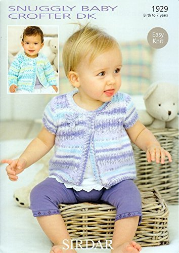 Sirdar Baby Crofter DK Baby/Child Cardigan Pattern 1929 Birth to 7 Years by Johnny - Pattern Dk