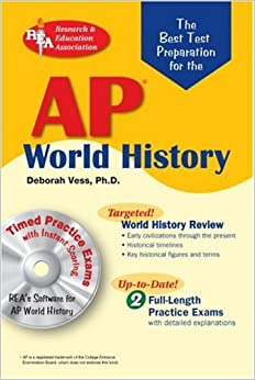 Book AP World History w/ CD-ROM (REA) - The Best Test Prep for the AP World History (Advanced Placement (AP) Test Preparation) by Deborah Vess Ph.D. (2006-04-17)