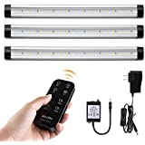 LED Under Cabinet Lights Remote Control with Timer - Albrillo Under Counter Kitchen Lighting, Closet Shelf Light, 900 Lumen, Soft White 3000K, 3 Pack