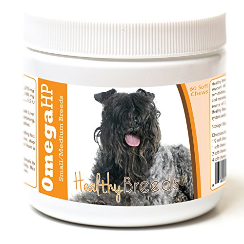 Healthy Breeds Dog Omega Oil Moist Soft Chews for Kerry Blue Terrier - Over 100 Breeds - EPA & DHA Fatty Acids - Small & Medium Breed Formula - 60 Count ()