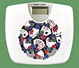 New White Finish Digital Scale featuring your choice of Novelty Theme logo! (Poker)