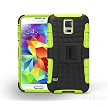 S5 Case,Galaxy S5 Case,Super Protective Samsung Galaxy S5 Case-SHOCK ABSORPTION/HIGH IMPACT RESISTANT Dual Layer Hard Plastic Heavy Duty Defender Case Cover for Samsung Galaxy S5 Case (Green)