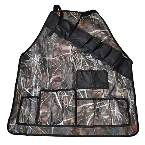 Professional BBQ Grill Apron with Tool Pockets and Beer/Spice Bottles Holder(Camo)