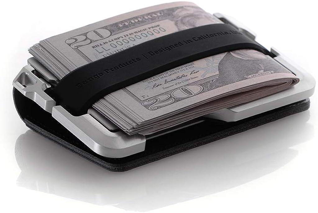 Dango D01 Dapper Bifold Wallet Jet Black//Satin Silver