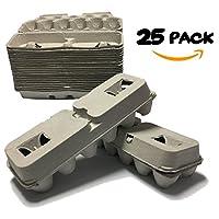 Blank Egg Cartons Cheap Bulk 25 PACK. Plain Empty Cheap Egg Cartons. Reusable Cardboard Egg Cartons