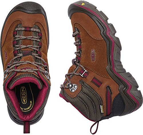 KEEN Women's Laurel Mid WP-w Trail Runner, Monks Robe/Rhododendron, 9 M US by KEEN (Image #3)