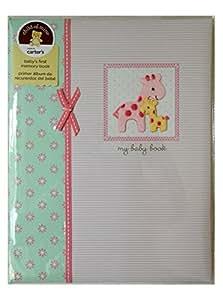 Baby book and photo album set