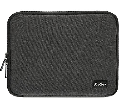 (ProCase Electronics Travel Gadget Organizer Tech Bag, Handy Gear Accessories Storage Carrying Bag Pouch for USB Cable SD Card Camera Hard Drive Flash Disk Power Bank -Black)