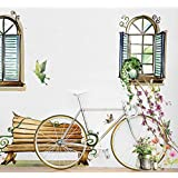 3D Fake Window Wall Poster & Removable Decorative Poster for Living Room Wall Stickers