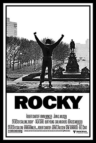 Buyartforless Framed Rocky 1 Movie Poster Sylvester Stallone 36x24 Art Print Poster Wall Decor Philadelphia PA Boxing Talia Shire Burt Young Carl Weathers Burgess Meredith Underdog Hero Story