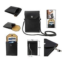 DFV mobile - Sac Étui Housse pour Tablettes et Smartphone avec Poche en Simili-Cuir Souple Universel pour > sony xperia z2, couleur NOIRE