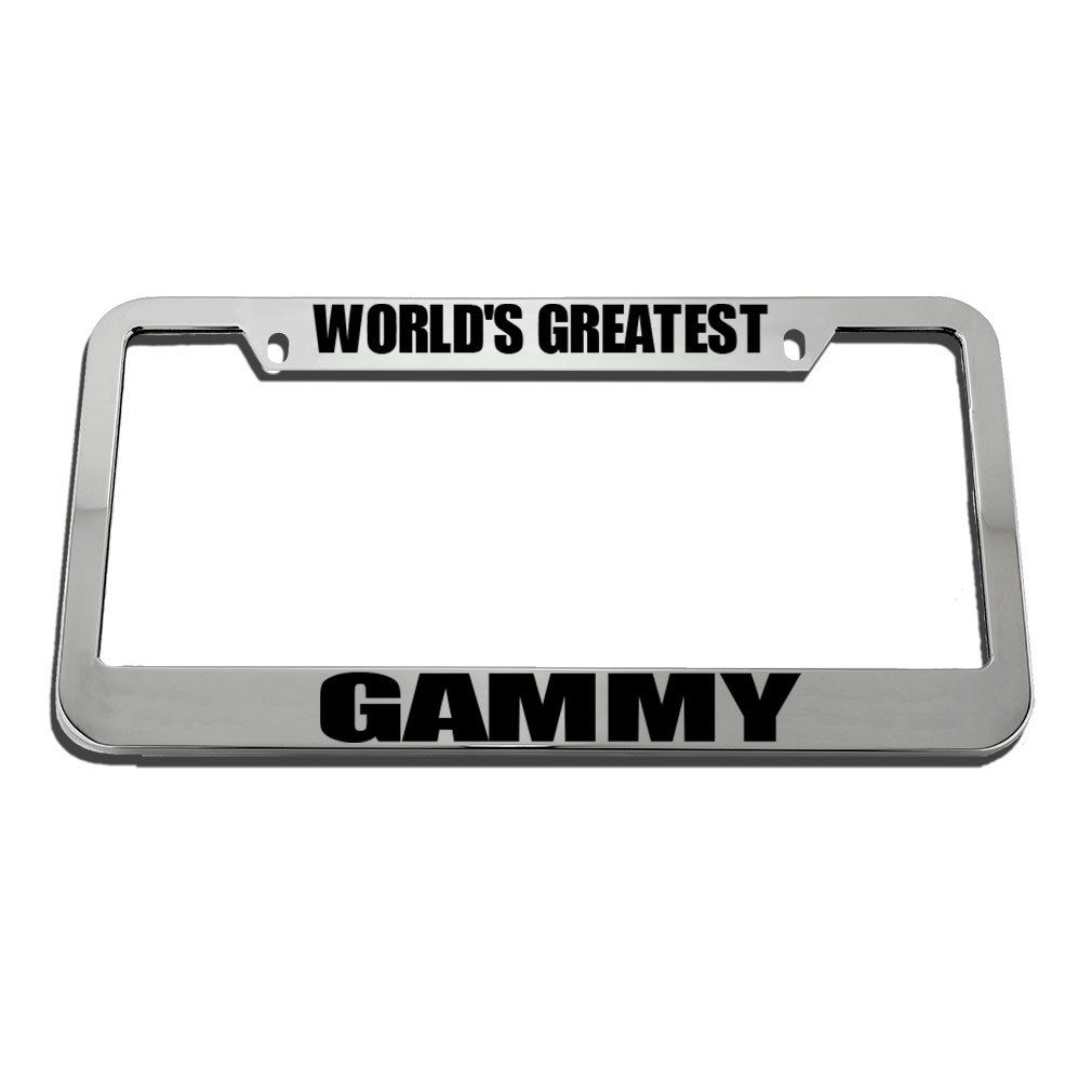 World/'S Greatest Gammy License Plate Frame Tag Holder