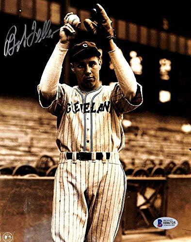 Bob Feller Signed Photograph - 8x10 BAS 1 - Beckett Authentication - Autographed MLB Photos