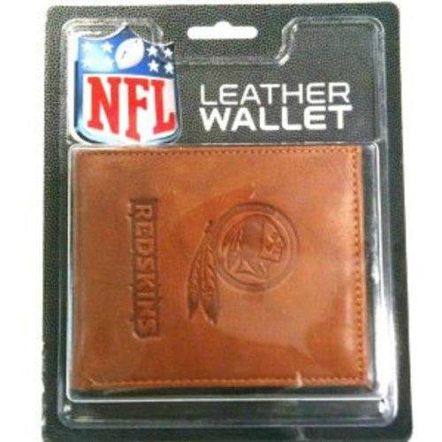 NFL Washington Redskins Leather Trifold Wallet with Man Made Interior