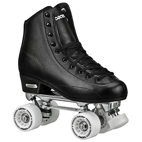 Pacer Stratos Traditional Quad Indoor Roller Rink Skates, Black sz -