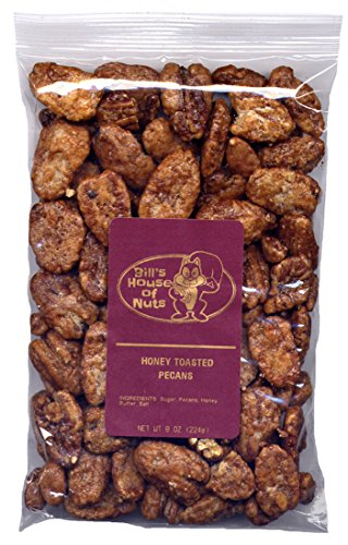 Honey Toasted Pecans - Light, Fresh, Crunchy, and Delicately Sweet (8 oz)