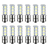 Automotive : HOTSYSTEM 12V 1156 7506 1003 1141 LED SMD 18 LED Bulbs Interior RV Camper White 12-pack