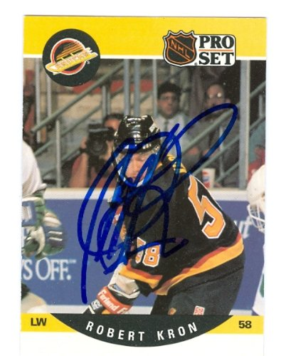 Autograph Warehouse 65953 Robert Kron Autographed Hockey ...