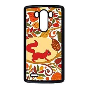 Cream Fall Animals LG G3 Cell Phone Case Black&Phone Accessory STC_198647