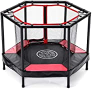 """AOKCOS 48"""" Trampoline for Kids 4FT Small Trampolines for Toddler Baby Kid Indoor Outdoor Jumping with Enc"""