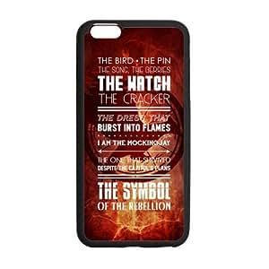 "LeonardCustom Protective Hard Rubber Coated Cover Case for iPhone6 Plus 5.5"", Hunger Games Mockingjay Logo -LCI6PU104"