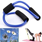 Resistance Bands Tube Fitness Muscle Workout Exercise Yoga Tubes by Babyfirstshop