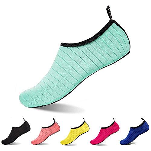 U-WARDROBE Barefoot Water Shoes for Women And Men Quick-Dry Aqua Socks for Yoga Beach Swim Surf Exercise Green
