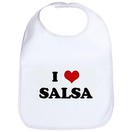 52e8da7a1 Amazon.com: CafePress - I Love SALSA Bib - Cute Cloth Baby Bib, Toddler  Bib: Clothing